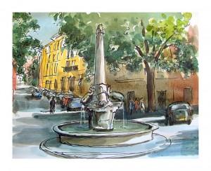 Guy Molle - La fontaine des 4 dauphins - Aix-en-Provence - France